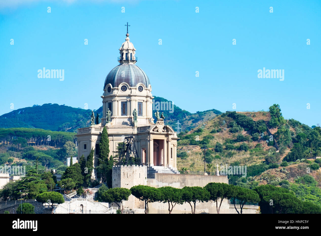 the church of Christ the King of Montalto, in Messina on the island of Sicily - Stock Image