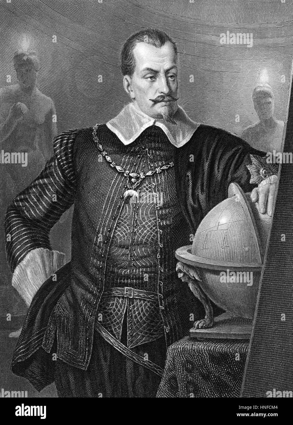 ALBRECHT von WALLENSTEIN (1583-1634) Bohemian army commander and politician - Stock Image