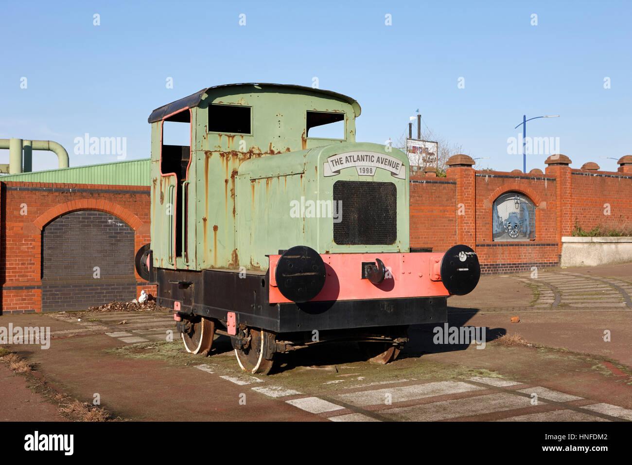 the atlantic avenue locomotive train liverpool uk - Stock Image