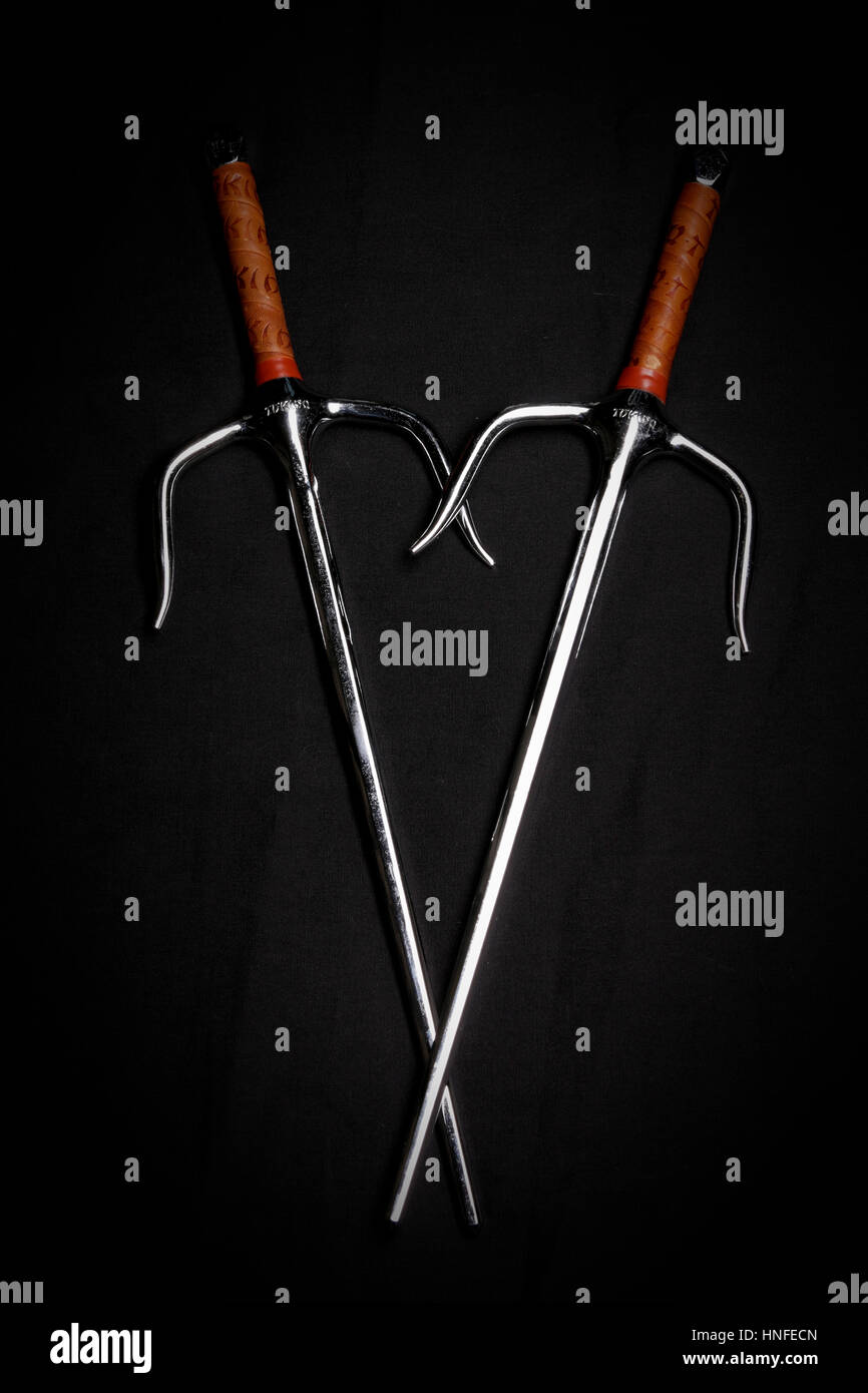 Sai - Martial Arts Weapons Stock Photo: 133720965 - Alamy