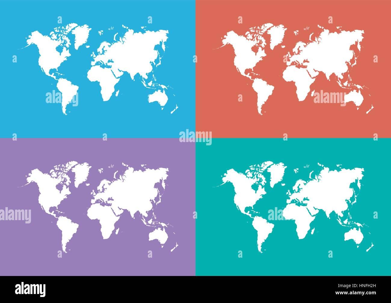 World map flat design stock vector art illustration vector world map flat design gumiabroncs Gallery