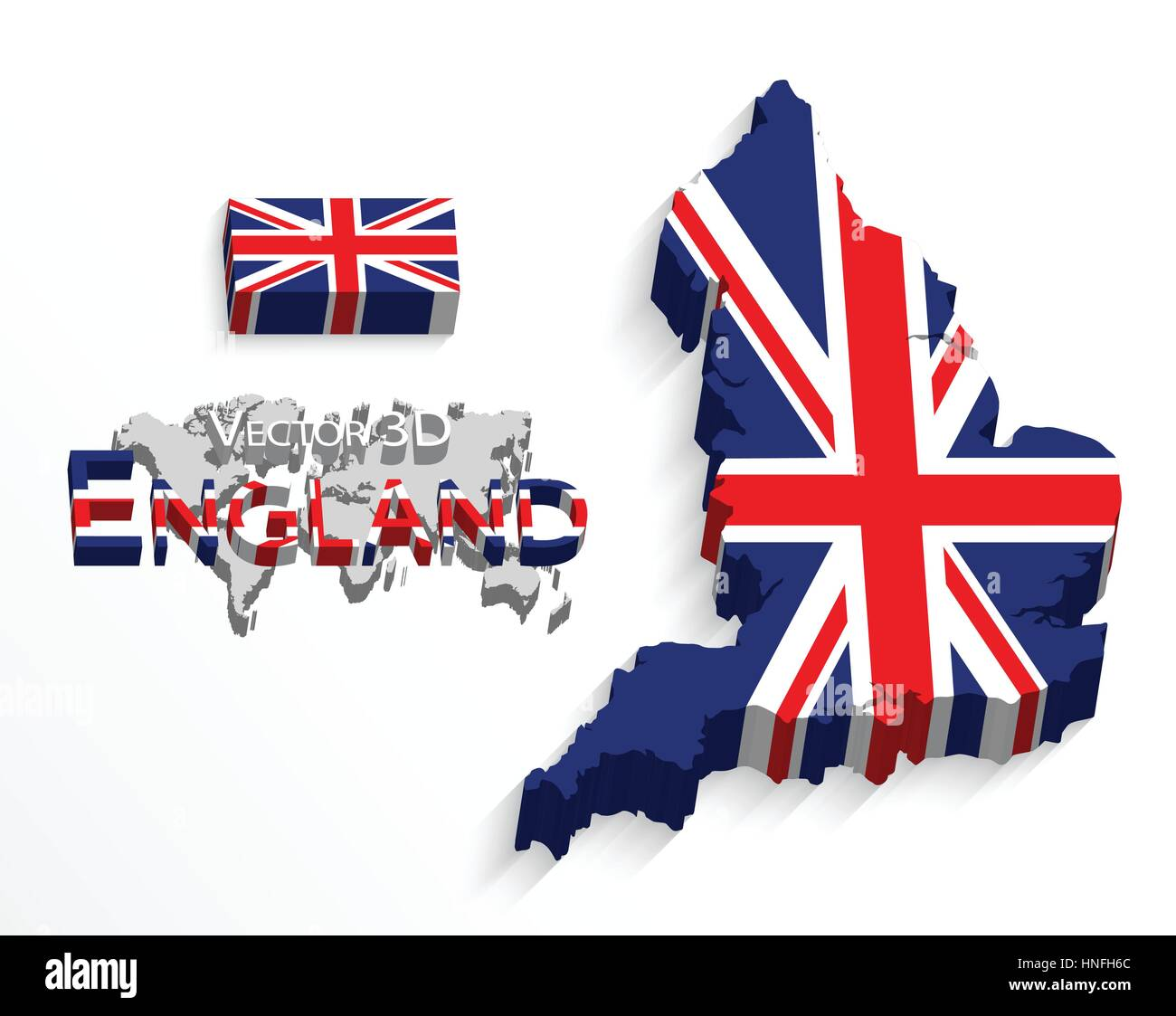 england 3d flag and map united kingdom of great britain combine flag and map
