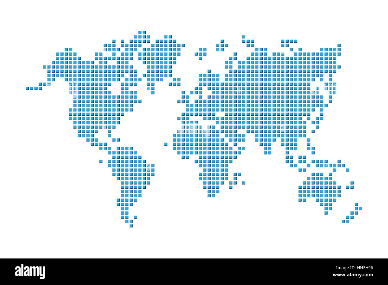 World map pixel style stock vector art illustration vector world map pixel style gumiabroncs Images