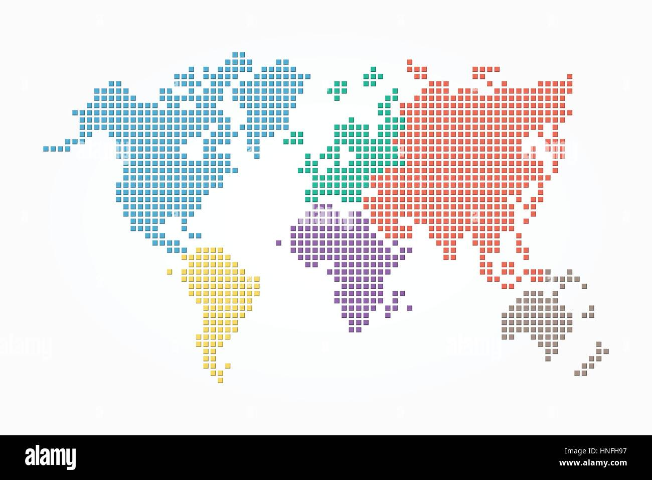World map pixel style and flat color design different color of world map pixel style and flat color design different color of continent gumiabroncs