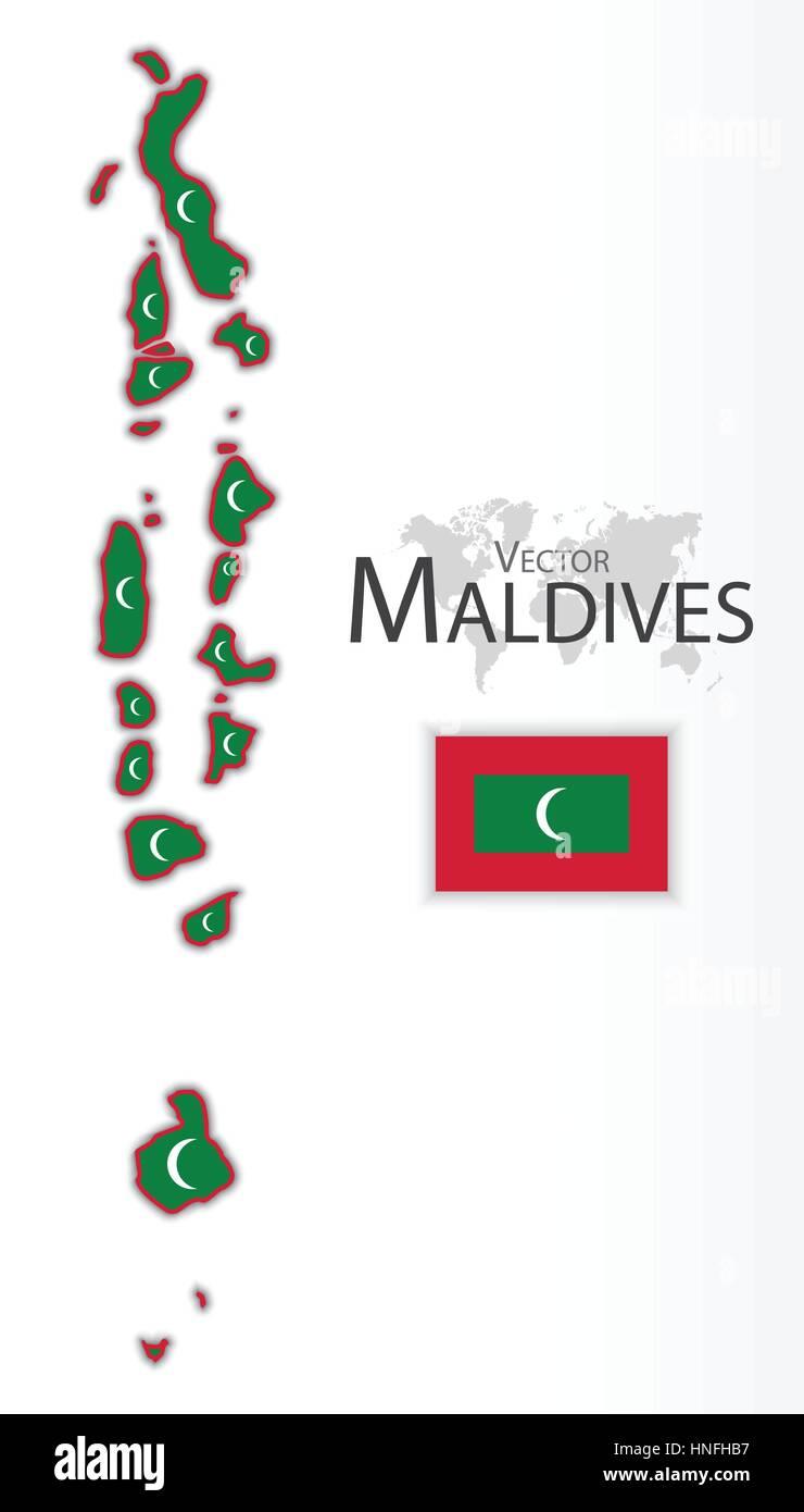 Maldives ( Republic of Maldives ) ( flag and map ) ( transportation ...