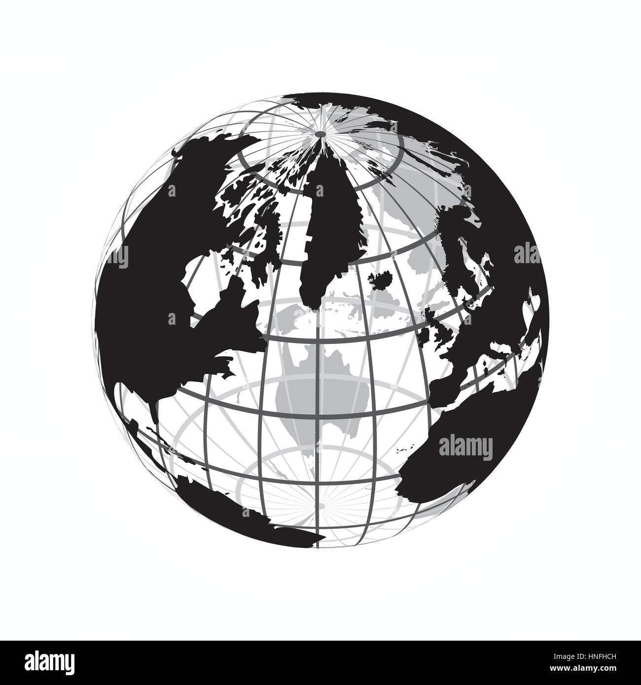 Around the world outline of world map with latitude and longitude around the world outline of world map with latitude and longitude gumiabroncs Gallery