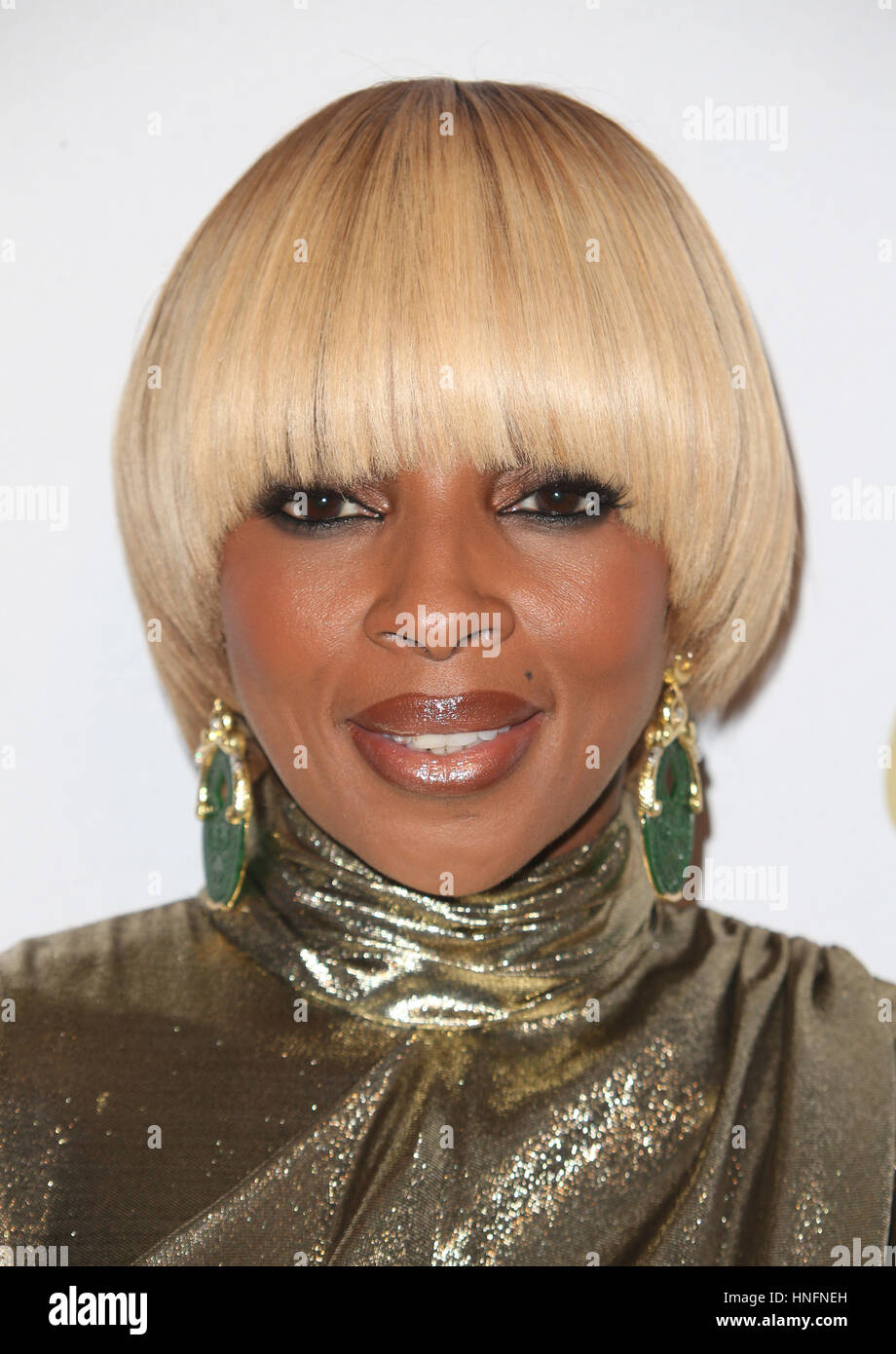 Beverly Hills, CA. 11th Feb, 2017. Mary J. Blige, At Pre-GRAMMY Gala and Salute to Industry Icons Honoring Debra - Stock Image