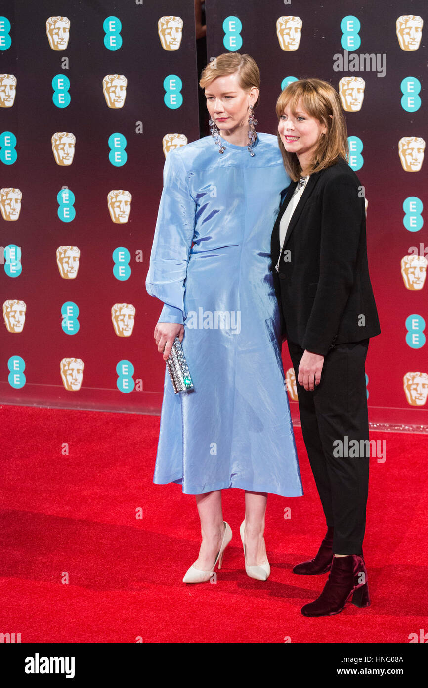 London, UK. 12th Feb, 2017. Sandra Hüller and Maren Ade. Red carpet arrivals for the EE British Academy Film - Stock Image