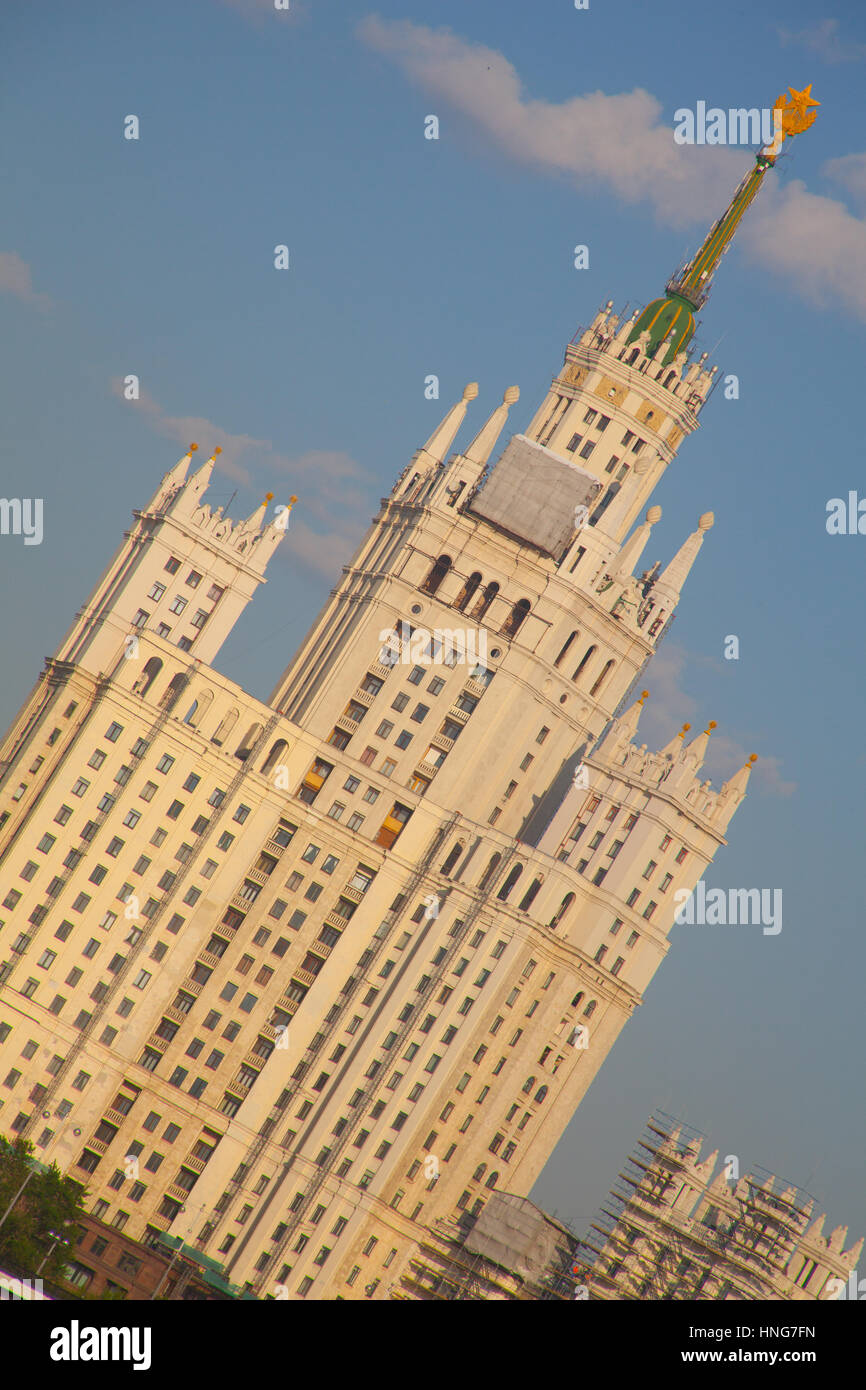 Stalinist Skyscraper in Moscow, Russia - Stock Image