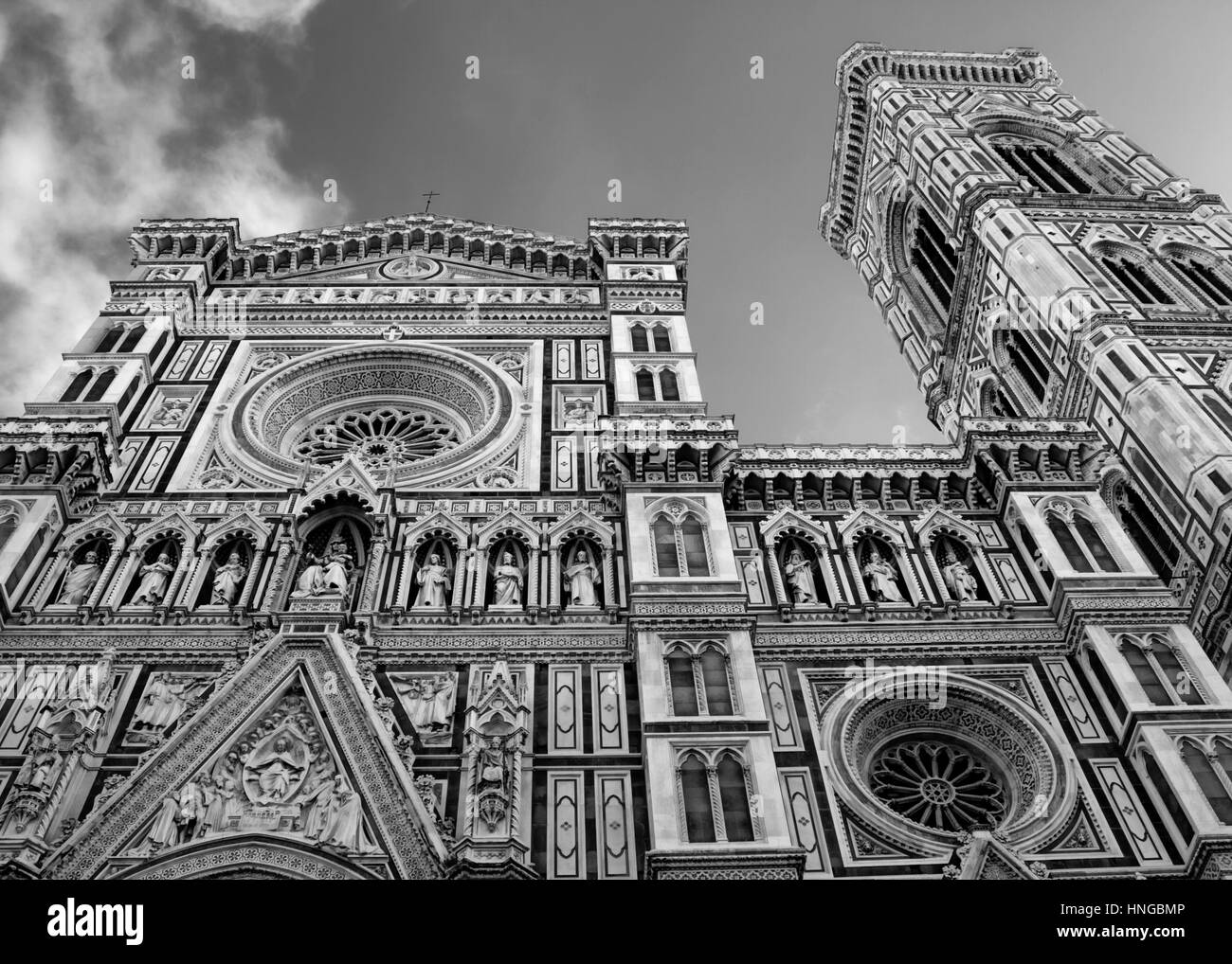 The front of the Duomo in Florence, Italy - Stock Image