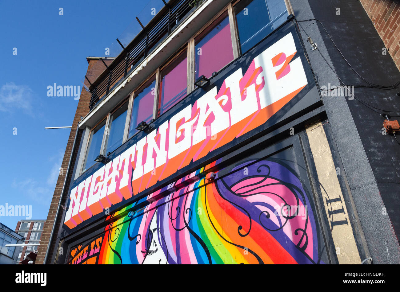 The Nightingale Club gay club in the gay village area of Birmingham - Stock Image