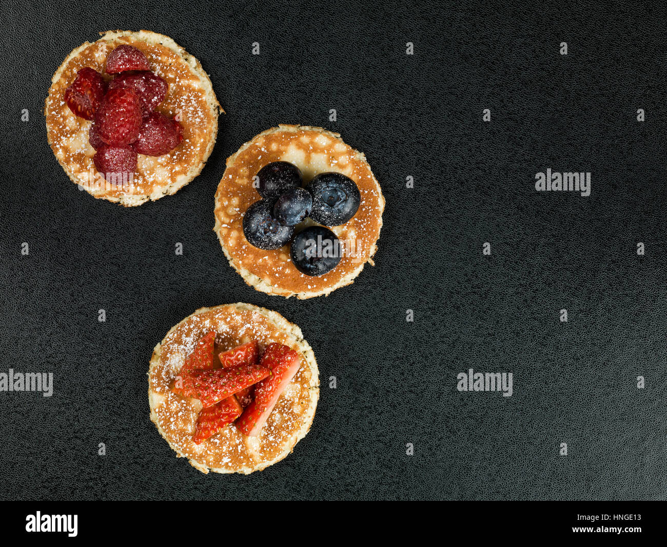 Homemade Pancakes With Fresh Fruit Stock Photo
