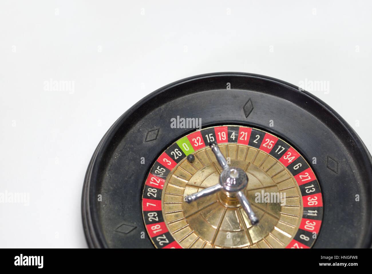 toy roulette wheel for freestanding. zero in focus - Stock Image