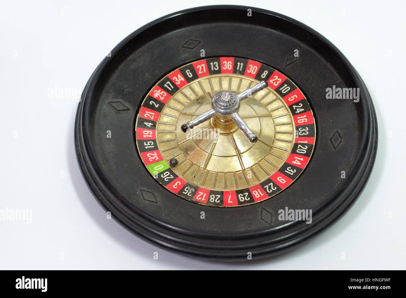toy gambling table. Roulette fell zero - Stock Image
