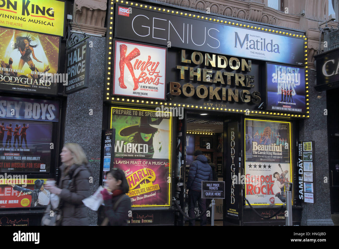 theatre ticket booth london - Stock Image