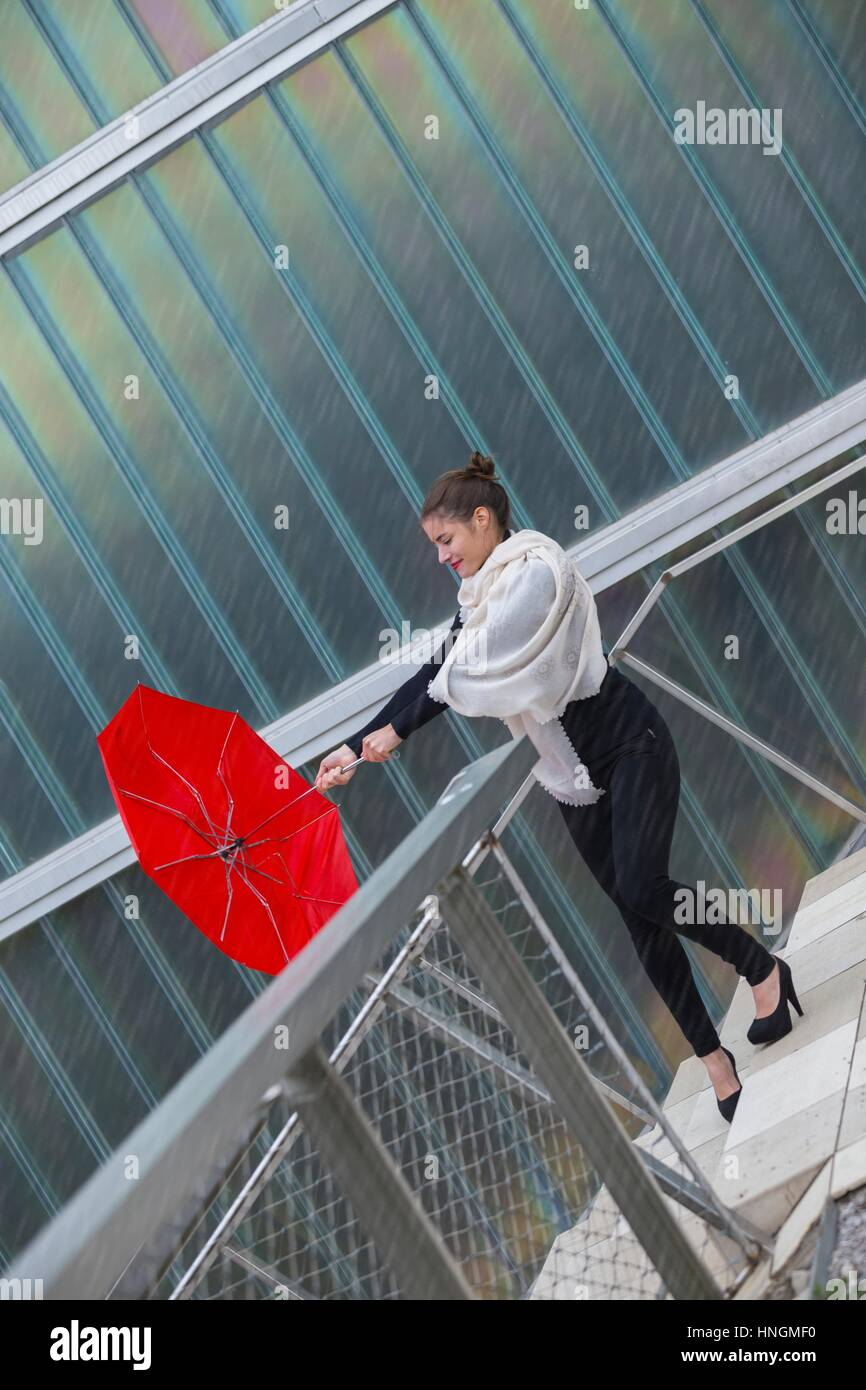 Umbrella Wind Rain Stock Photos & Umbrella Wind Rain Stock ...