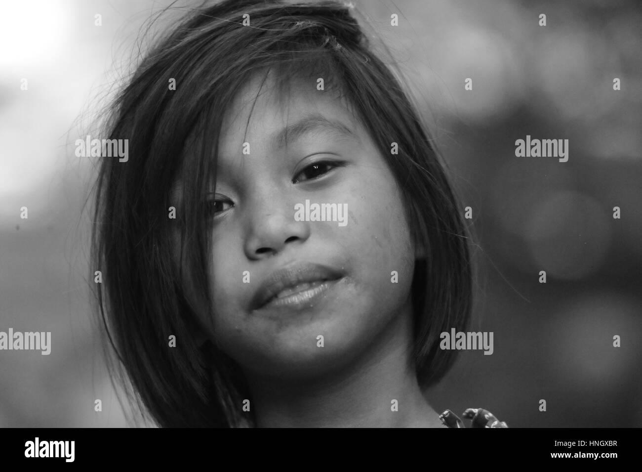 Strolling Kids in Manila - Stock Image