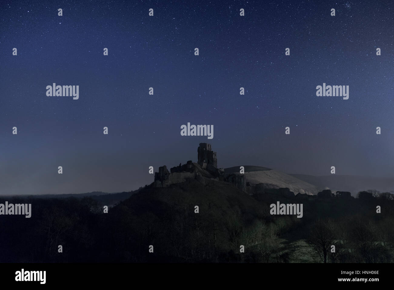 Corfe Castle, Dorset, England, UK Stock Photo