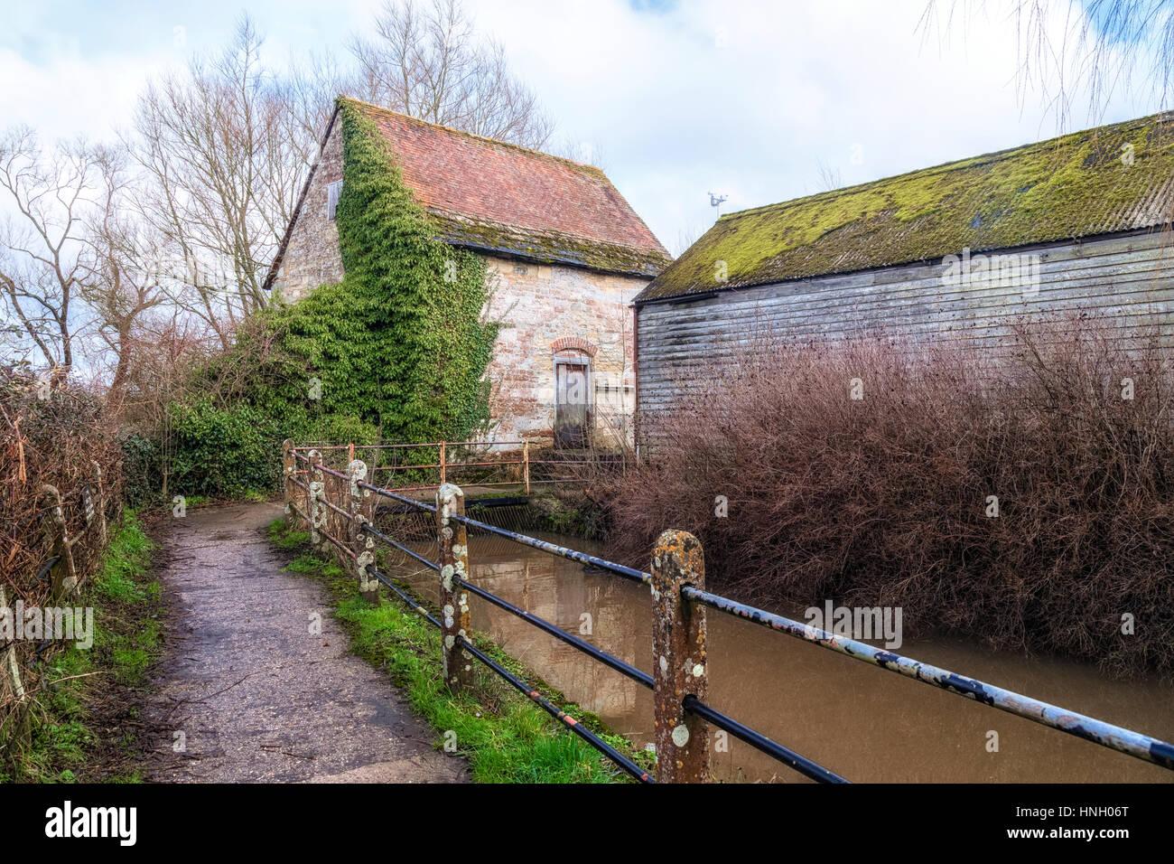 Fiddleford Mill, Sturminster Newton, Dorset, England, UK - Stock Image