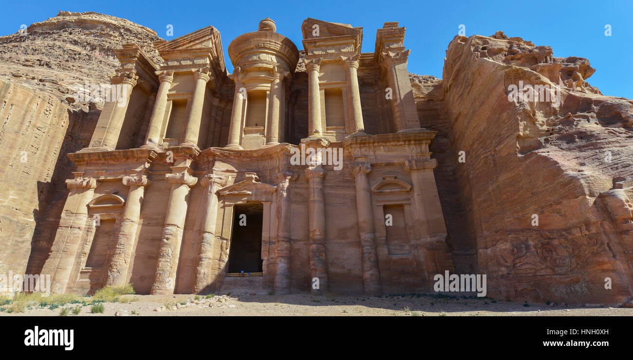 Ad Deir, The Monastery Temple of Petra, Jordan. Petra has led to its designation as a UNESCO World Heritage Site. - Stock Image