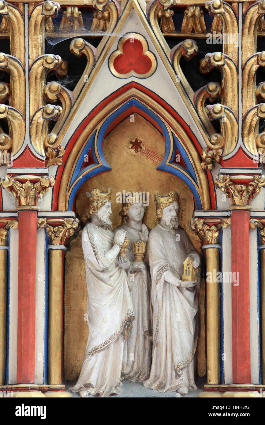 Decoratrice D Interieur Amiens the magi. amiens cathedral stock photo: 133760538 - alamy