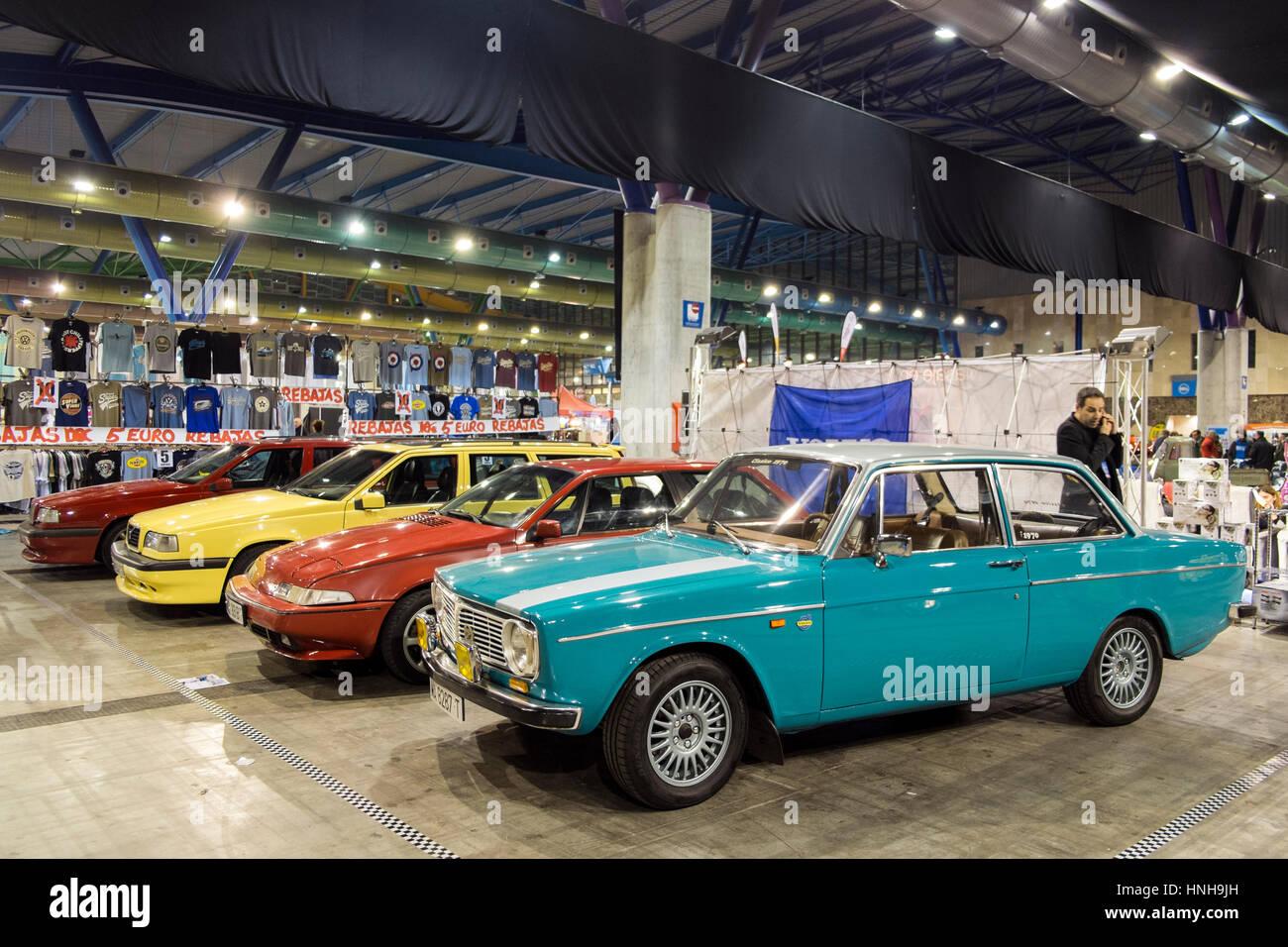 Volvo cars at Retro Málaga 2017 - Stock Image