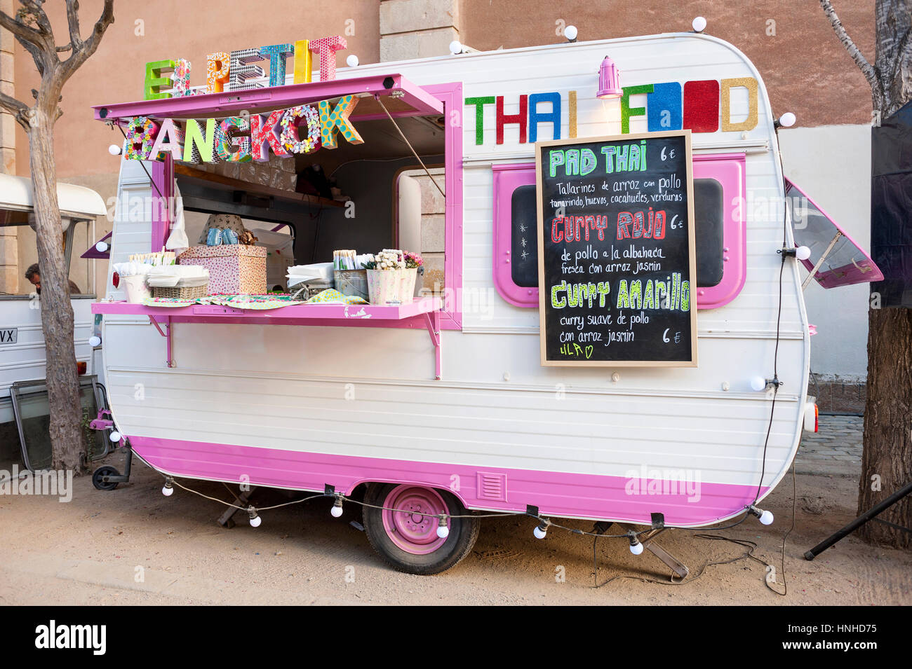 Food Truck El Petit Bangkok - Stock Image