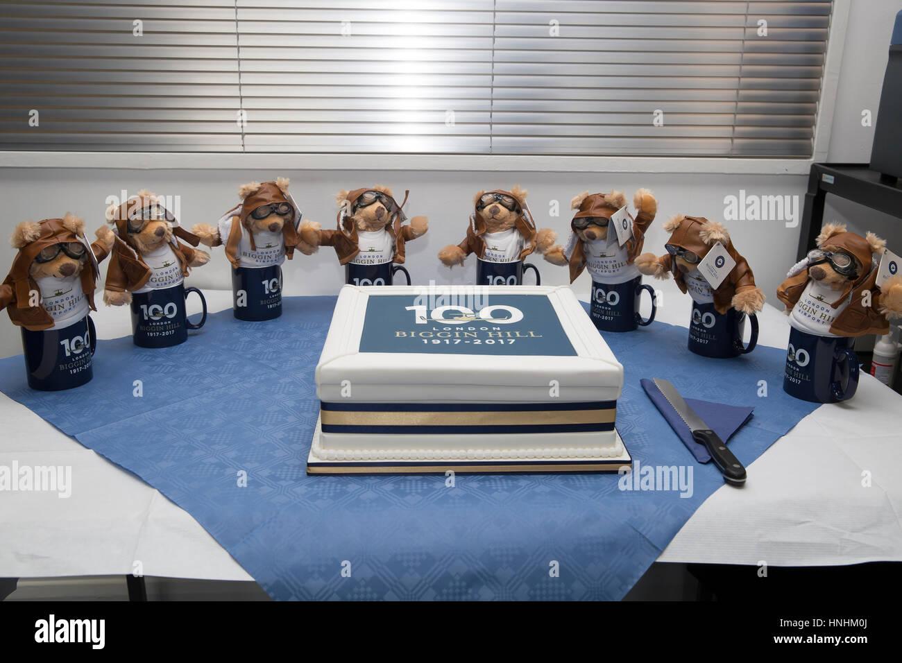 Biggin Hill Uk 13th Feb 2017 Birthday Cake And Bears At The