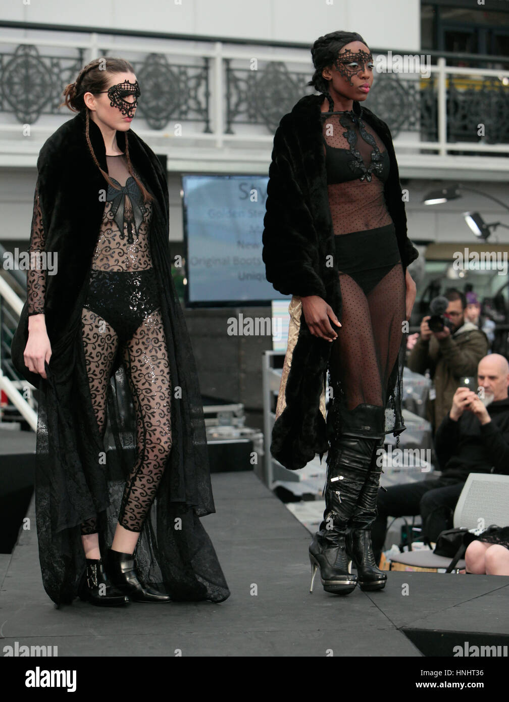 London UK,13 February 2017 The London edge ,alternative clothing and accessory show come to an end today after having - Stock Image