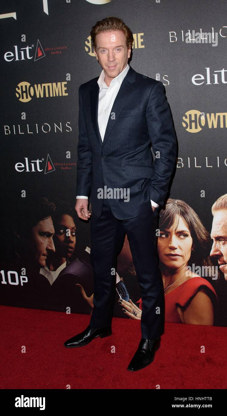 New York, NY, USA. 13th Feb, 2017. Damian Lewis at arrivals for BILLIONS Season Two Premiere on Showtime, Cipriani - Stock Image