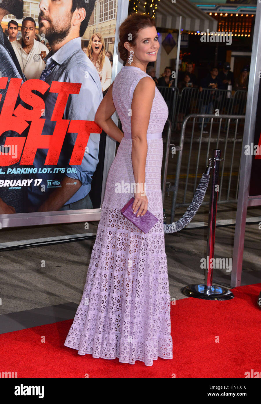 Los Angeles, USA. 13th February 2017. Cassi Colvin 066 arriving at the Fist Fight Premiere at the Westwood Village - Stock Image
