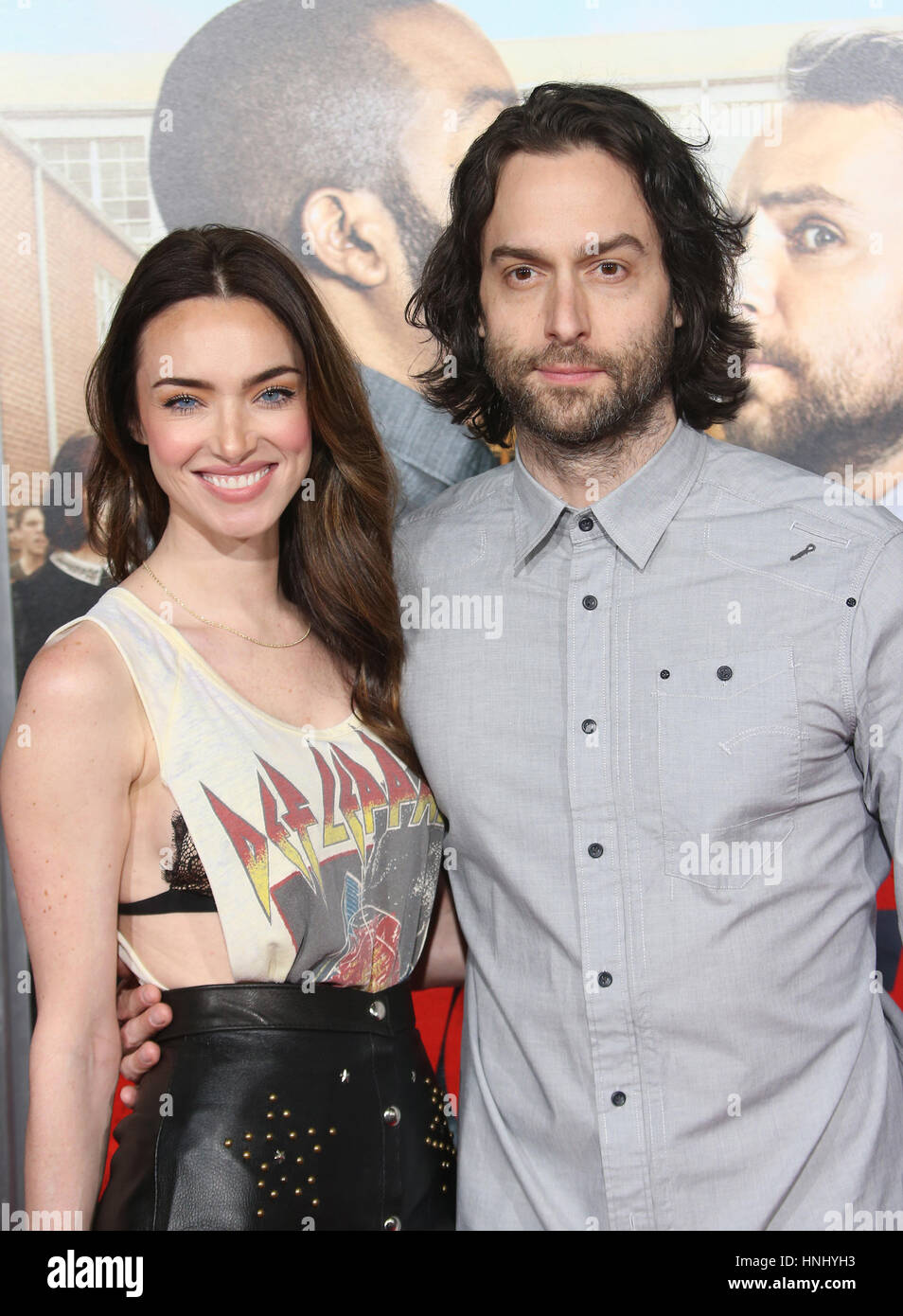 Westwood, CA. 13th Feb, 2017. Cassi Colvin, Chris D'Elia, At Premiere Of Warner Bros. Pictures' 'Fist - Stock Image