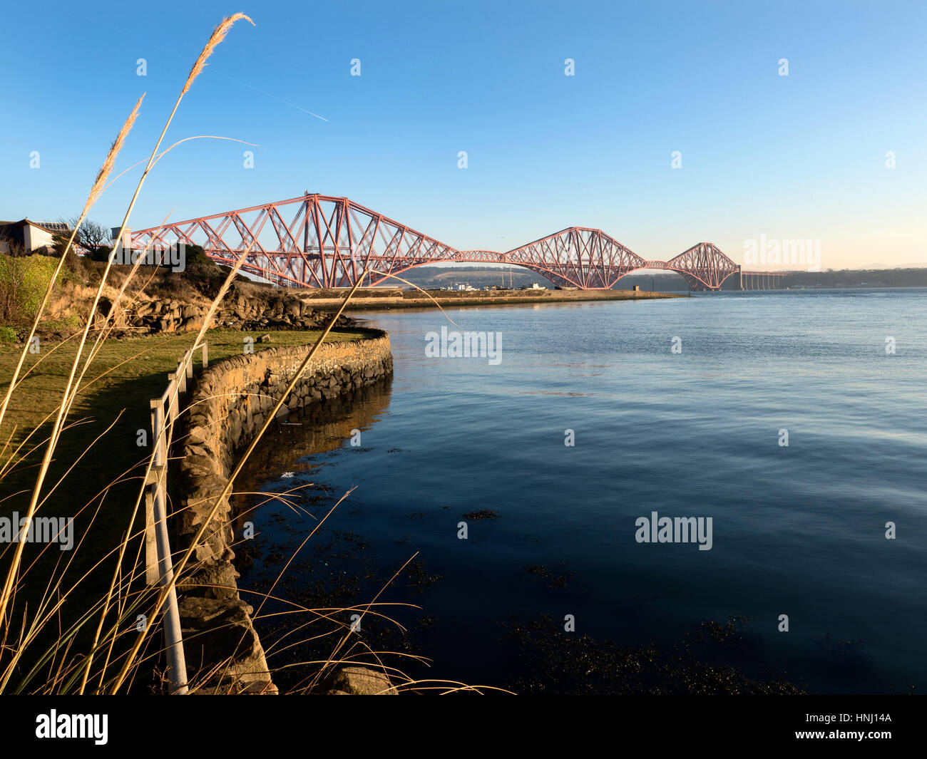Forth Bridge from North Queensferry Fife Scotland - Stock Image