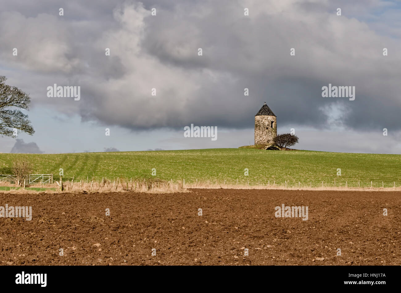 Tower & Vault of the Old Monkton Windmill - Stock Image
