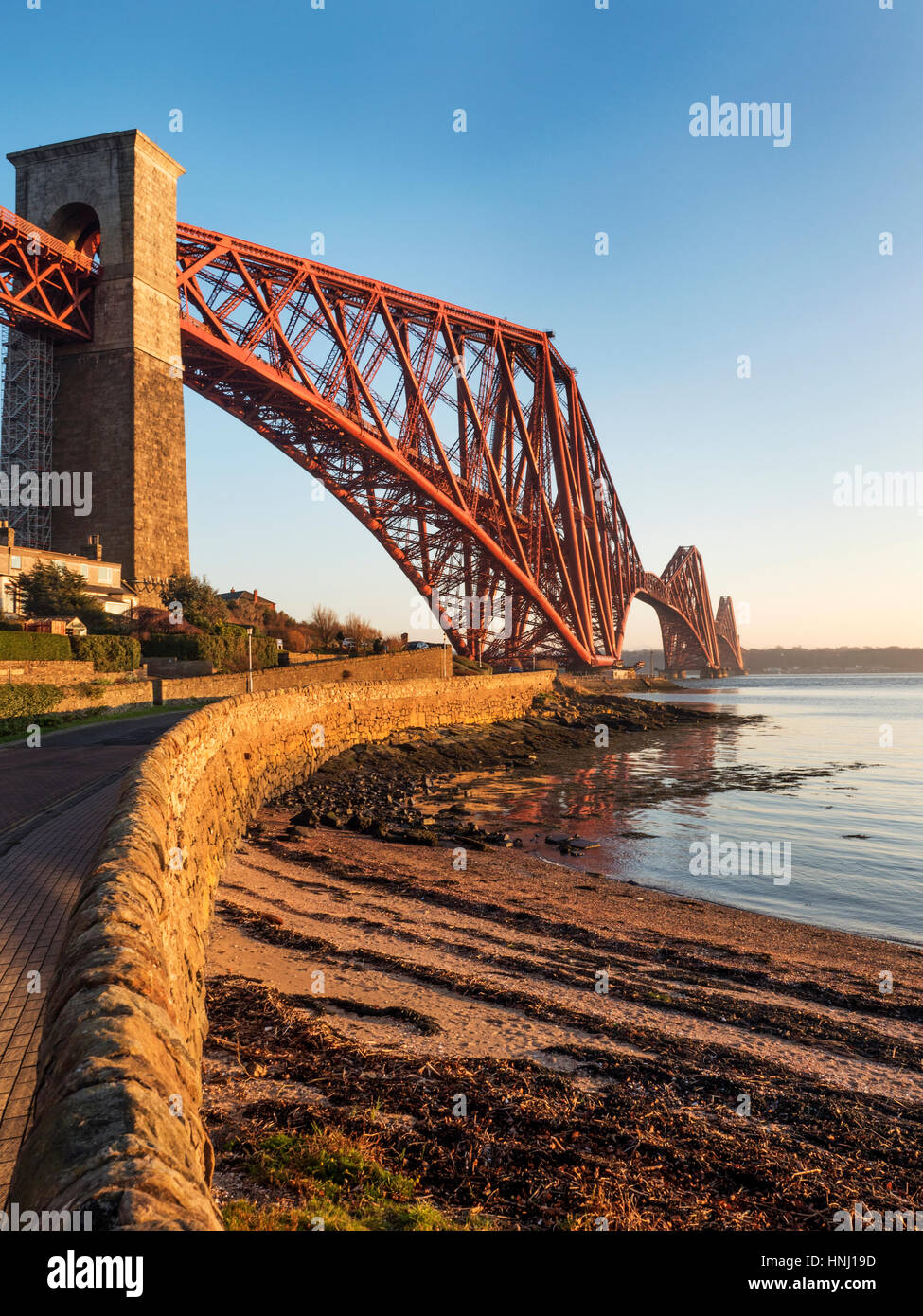 Forth Bridge from Battery Road North Queensferry Fife Scotland - Stock Image