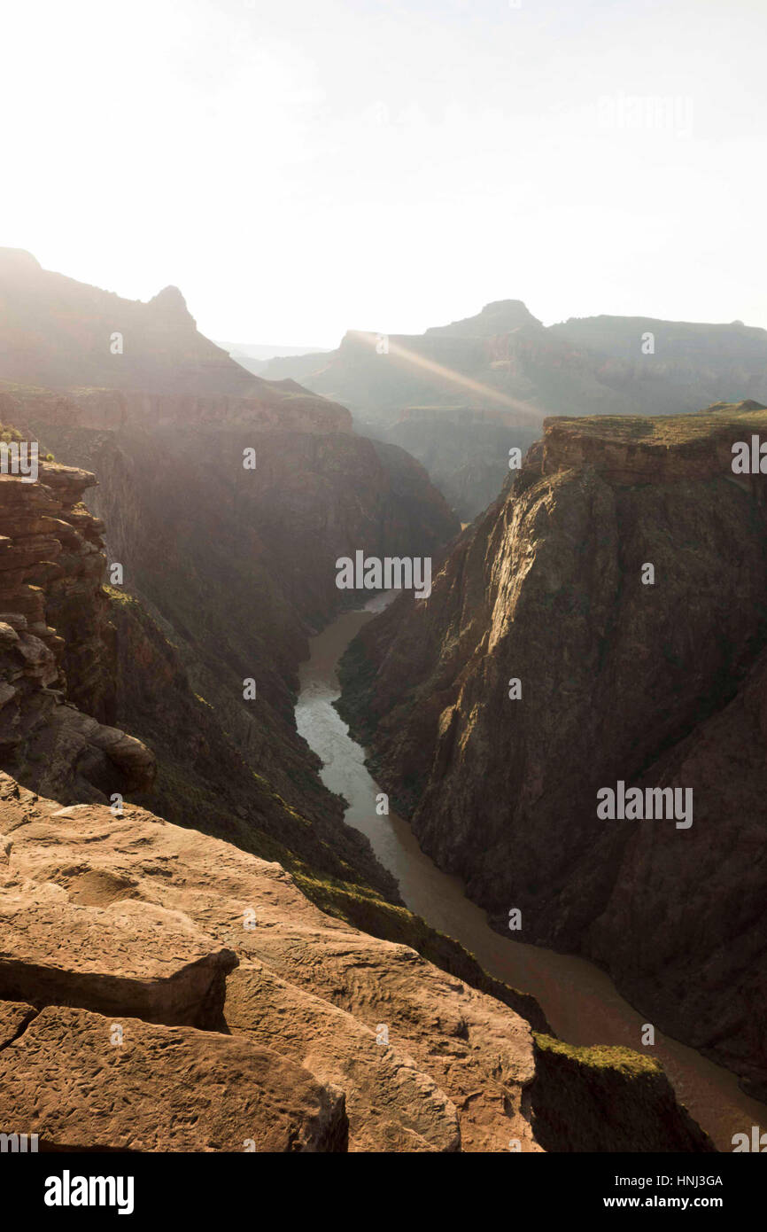 High angel view of valley at grand canyon - Stock Image