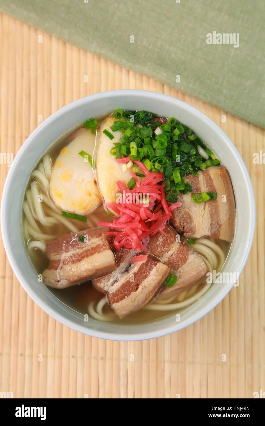 Okinawan noodle - Stock Image