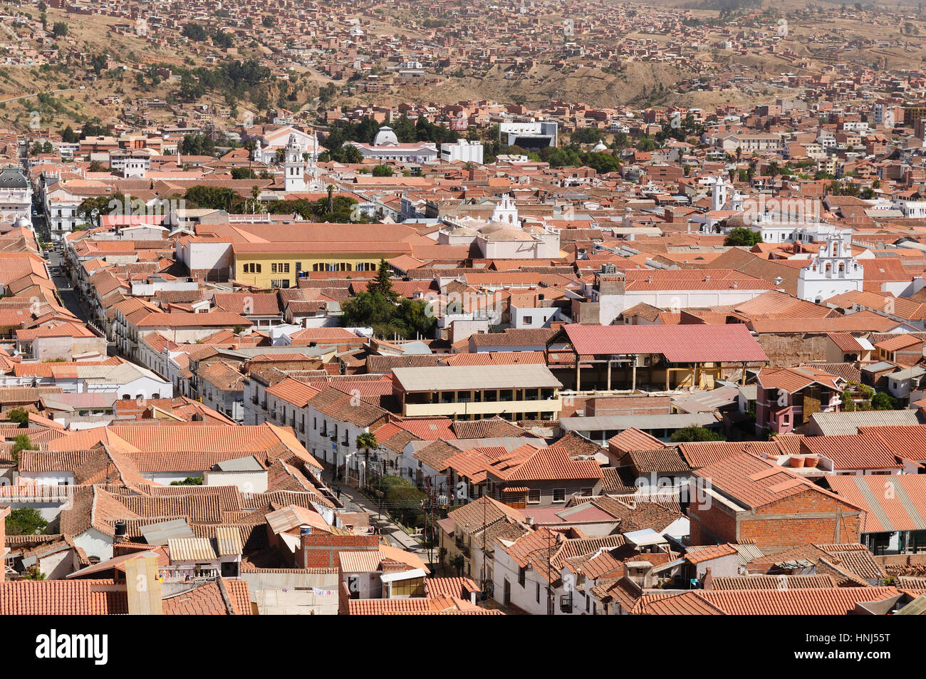The Capital City Of Bolivia Sucre White City Has A Rich Colonial Stock Photo Alamy
