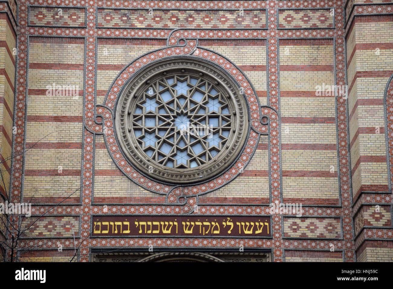 Budapest Grand Synagogue, Budapest, Hungary. - Stock Image