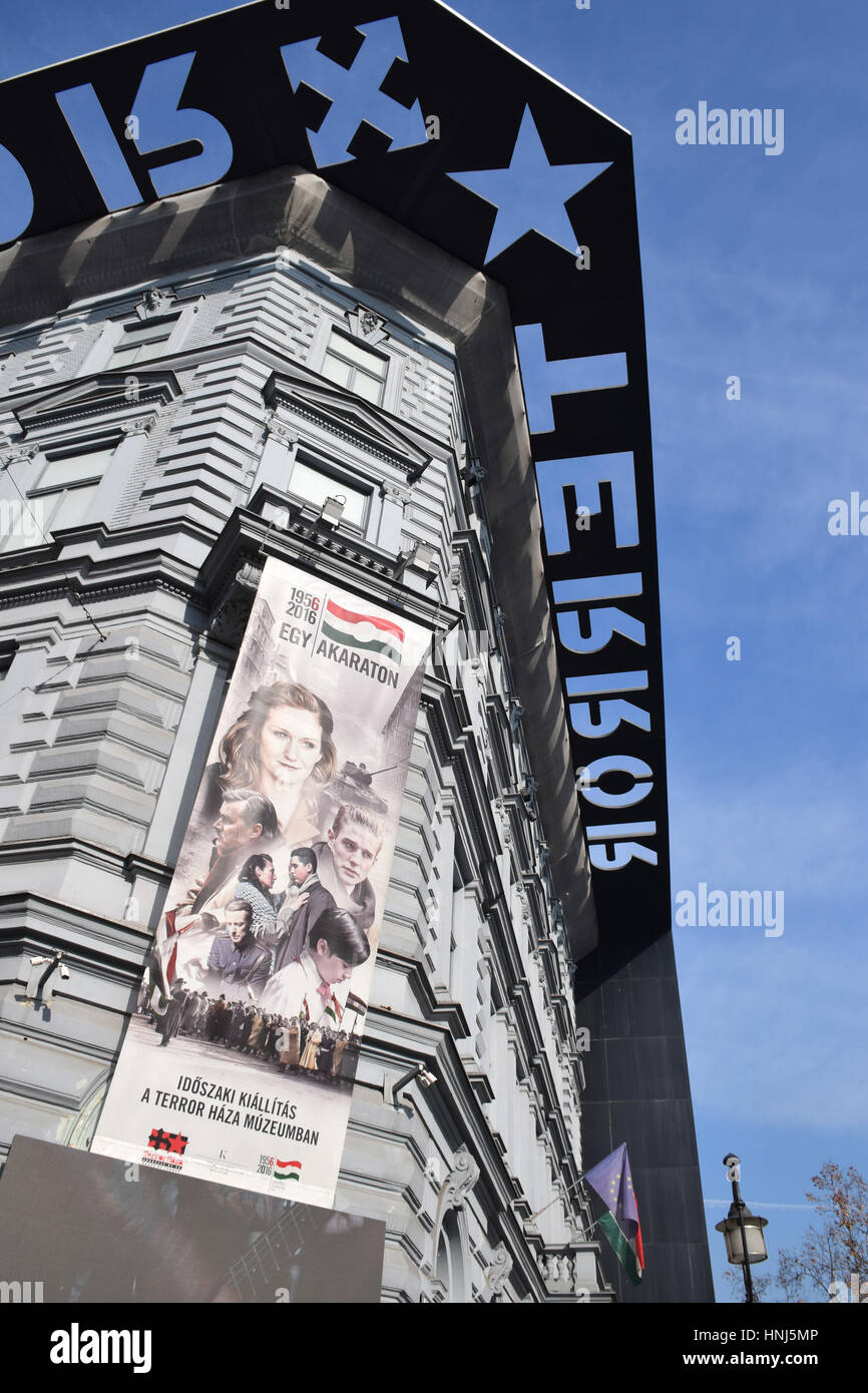 House of Terror, Budapest, Hungary, museum to the fascist & communist history of (20 history Hungary - Stock Image