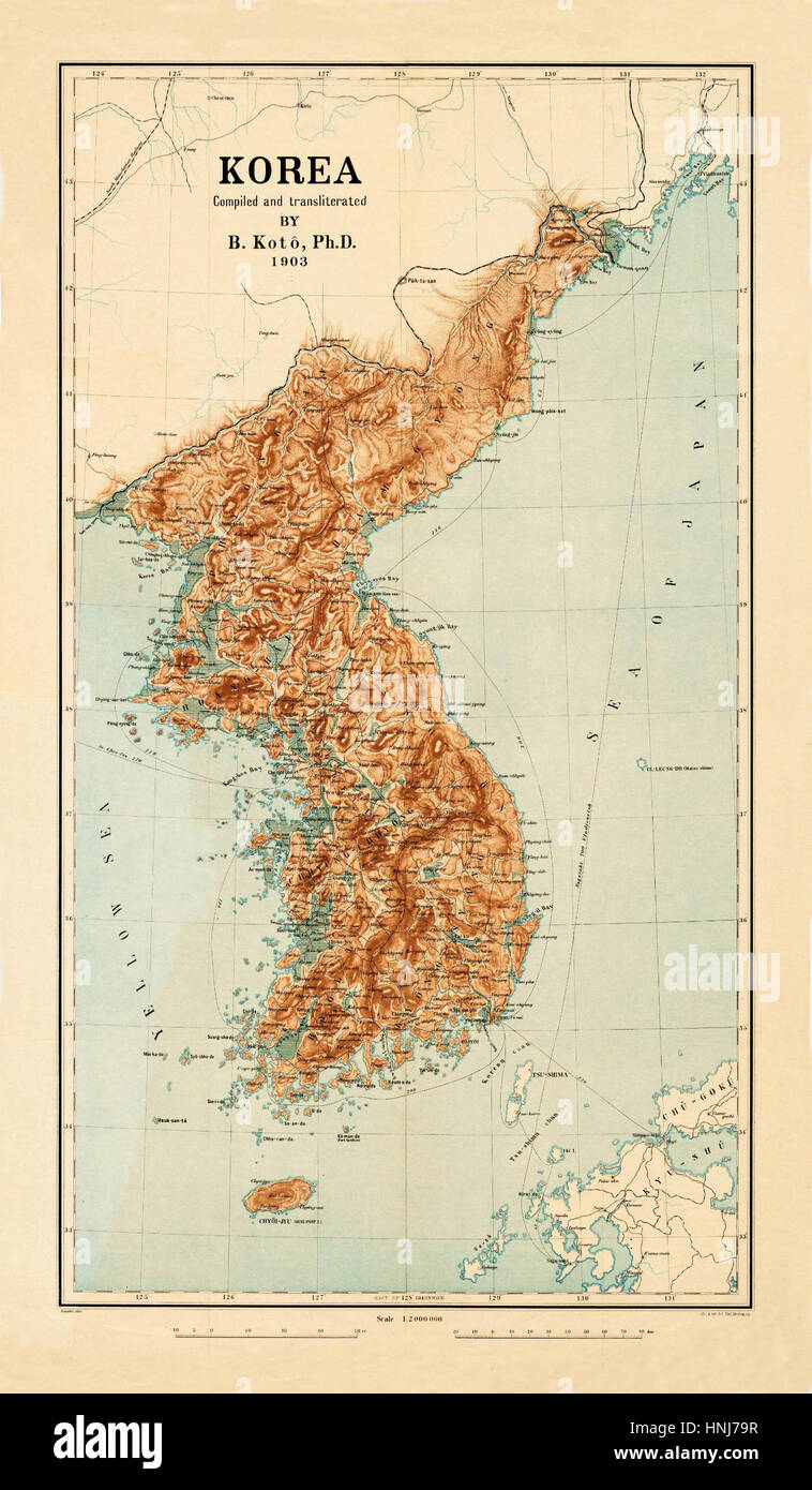 Map Of Korea 1903 Stock Photo: 133781251 - Alamy  Map Of Korea on map of united states, map of lithuania, map of romania, map of the pacific ocean, map of india, map of philippines, map of asia, map of europe, map of bermuda, map of jeju island, map of slovakia, map of new zealand, map of el salvador, map of korean war, map of israel, map of korean peninsula, map of middle east, map of guam, map of seoul, map of vietnam,