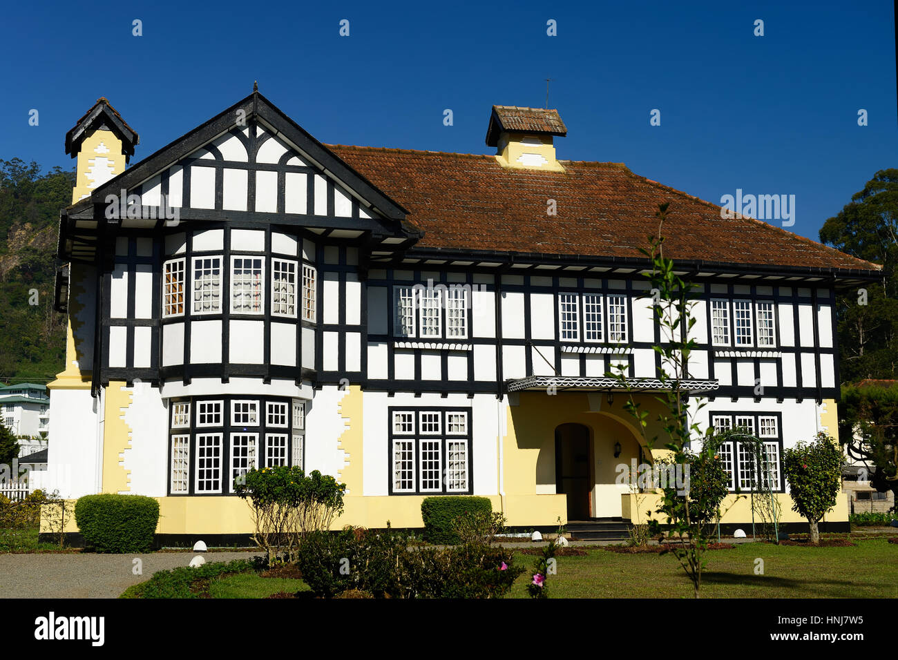 Example of old english colonial style house in the holiday Nuwara