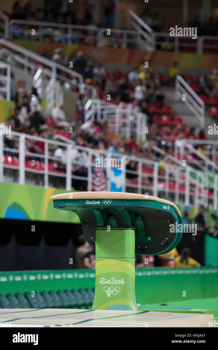 Rio de Janeiro, Brazil. 11 August 2016. Vault at the Women's Gymnastics at the 2016 Olympic Summer Games. ©Paul - Stock Image