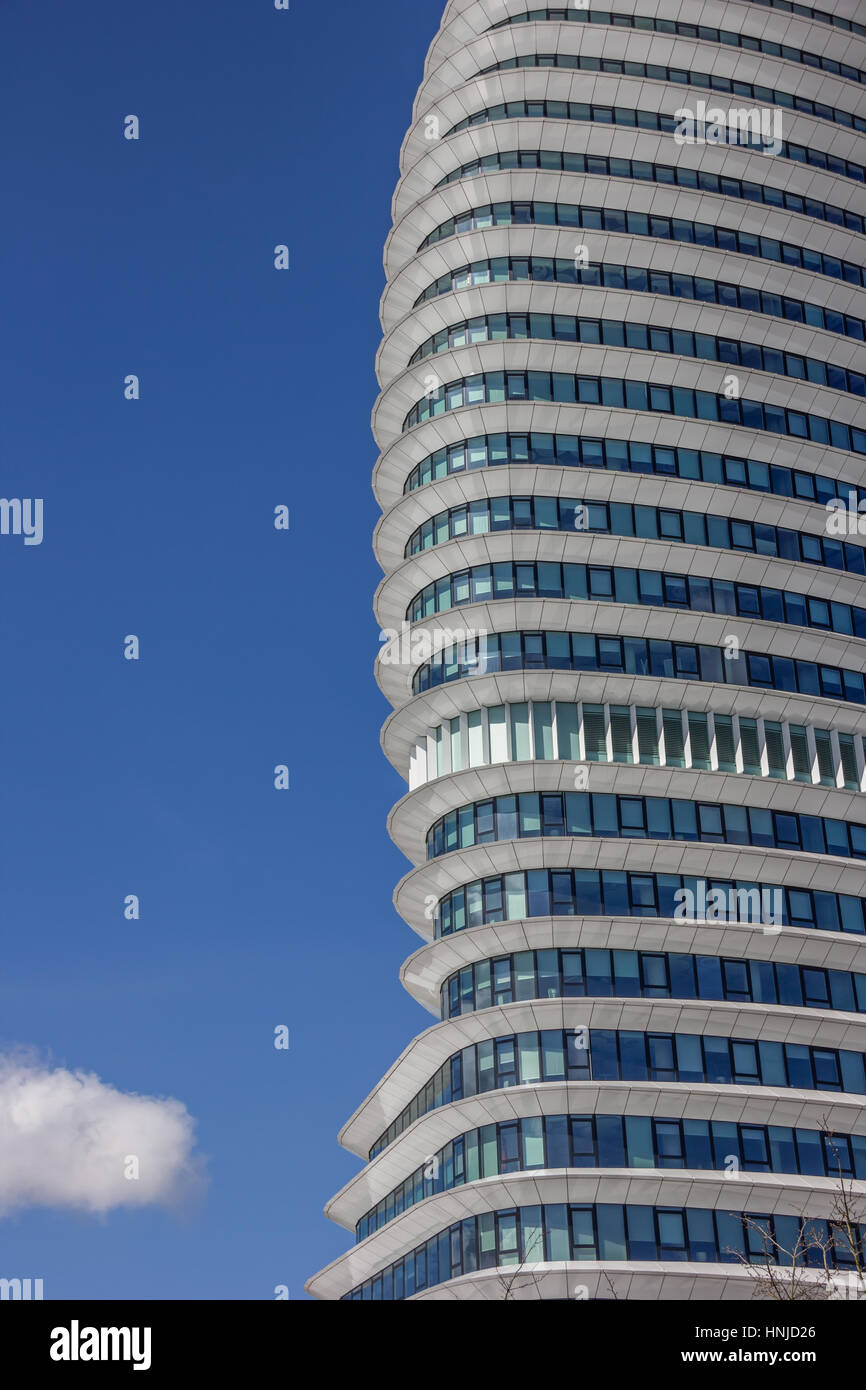 Dutch Curvature Modern House Has A Curved Construction To: Lines Curves Contemporary Office Building Stock Photos