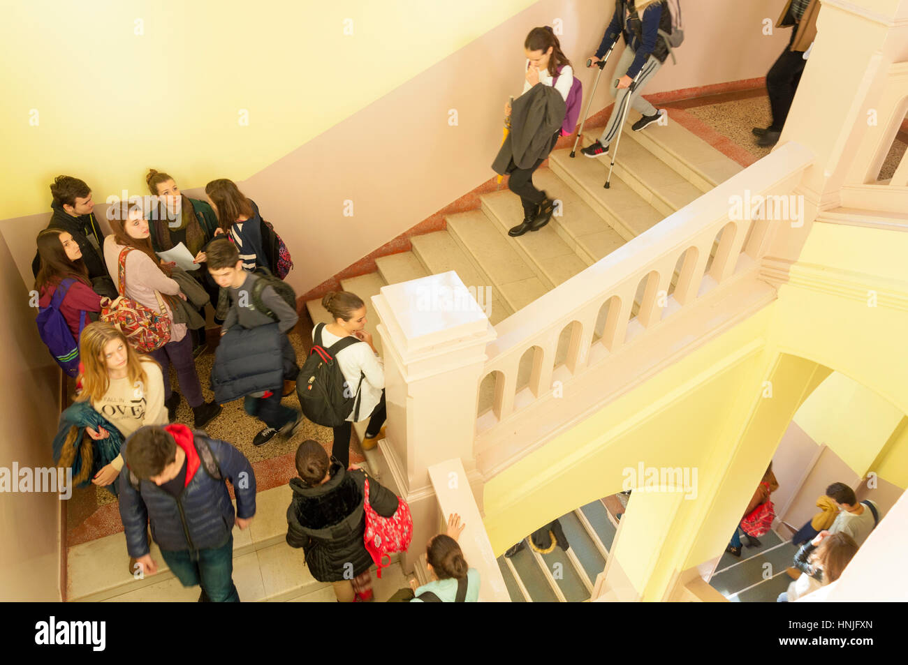 Mostar, Bosnia Herzcegovina, female and male students at United World College UWC school - Stock Image