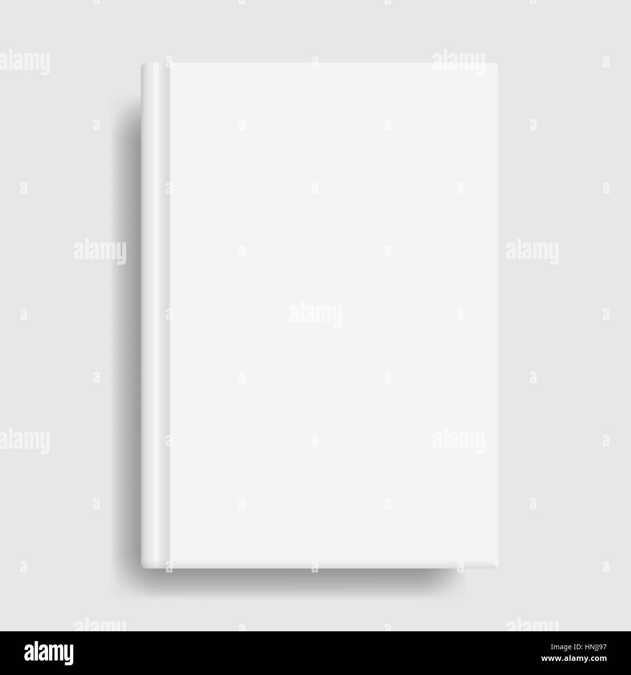Book cover mockup. Blank white template. Idea for diary or textbook ...