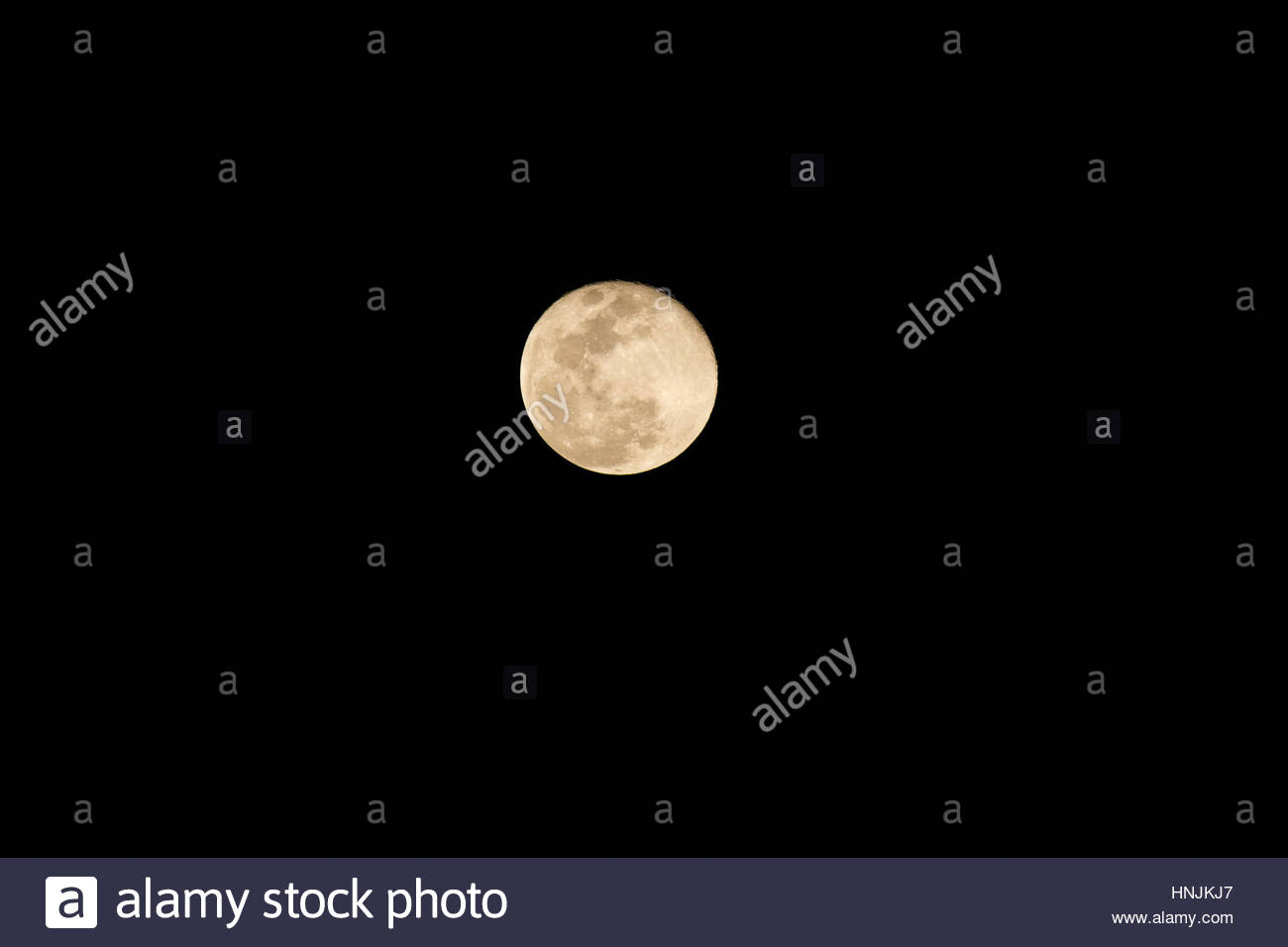Full moon, at the equator. - Stock Image