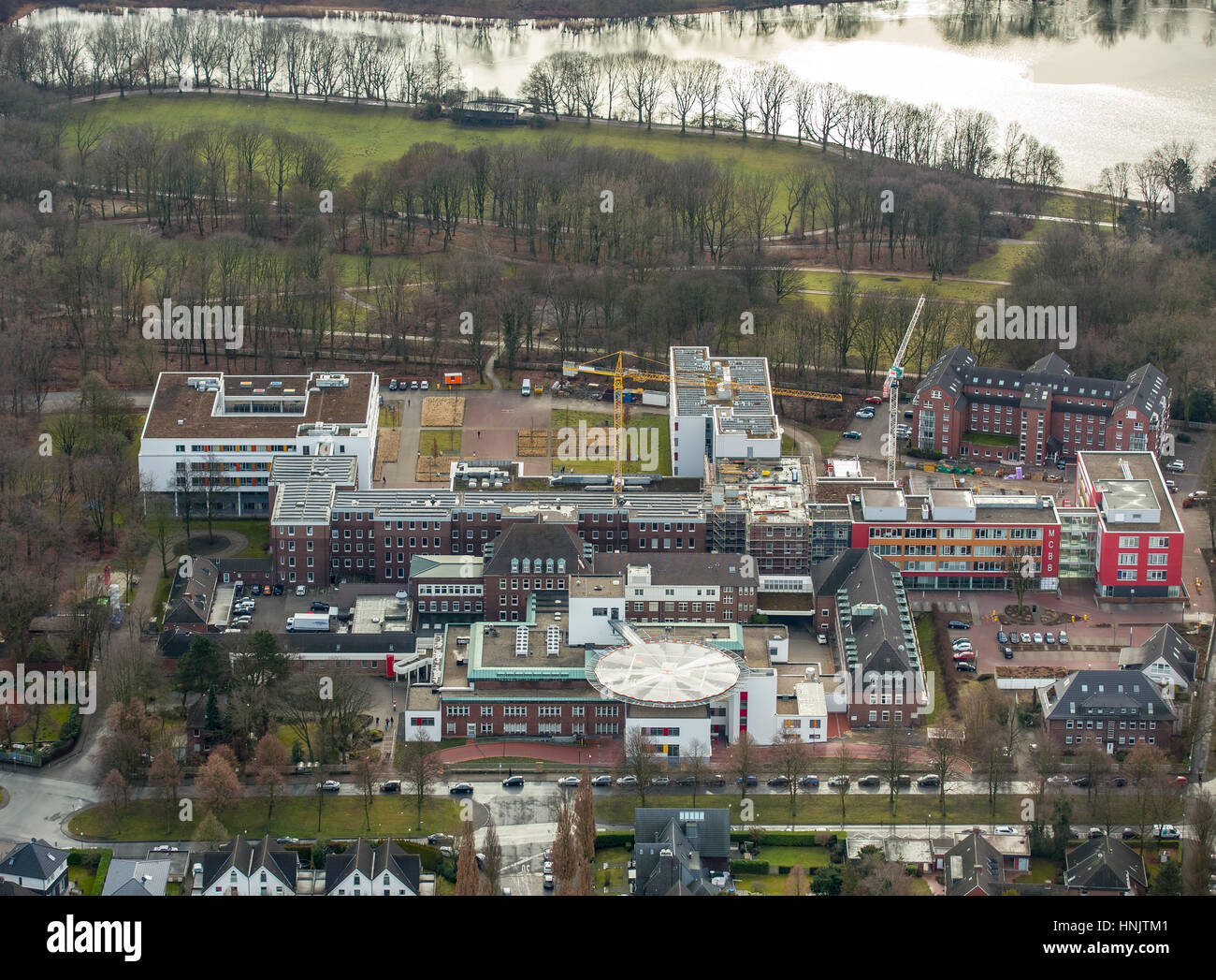 Bergmannsheil Clinic Gelsenkirchen-Buer, Gelsenkirchen-Buer, Ruhr Area, North Rhine-Westphalia, Germany - Stock Image