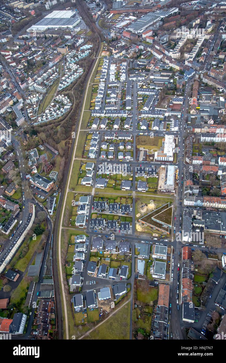 Küppersbusch housing, settlement, Rheinische Straße, Gelsenkirchen, Ruhr area, North Rhine-Westphalia, - Stock Image