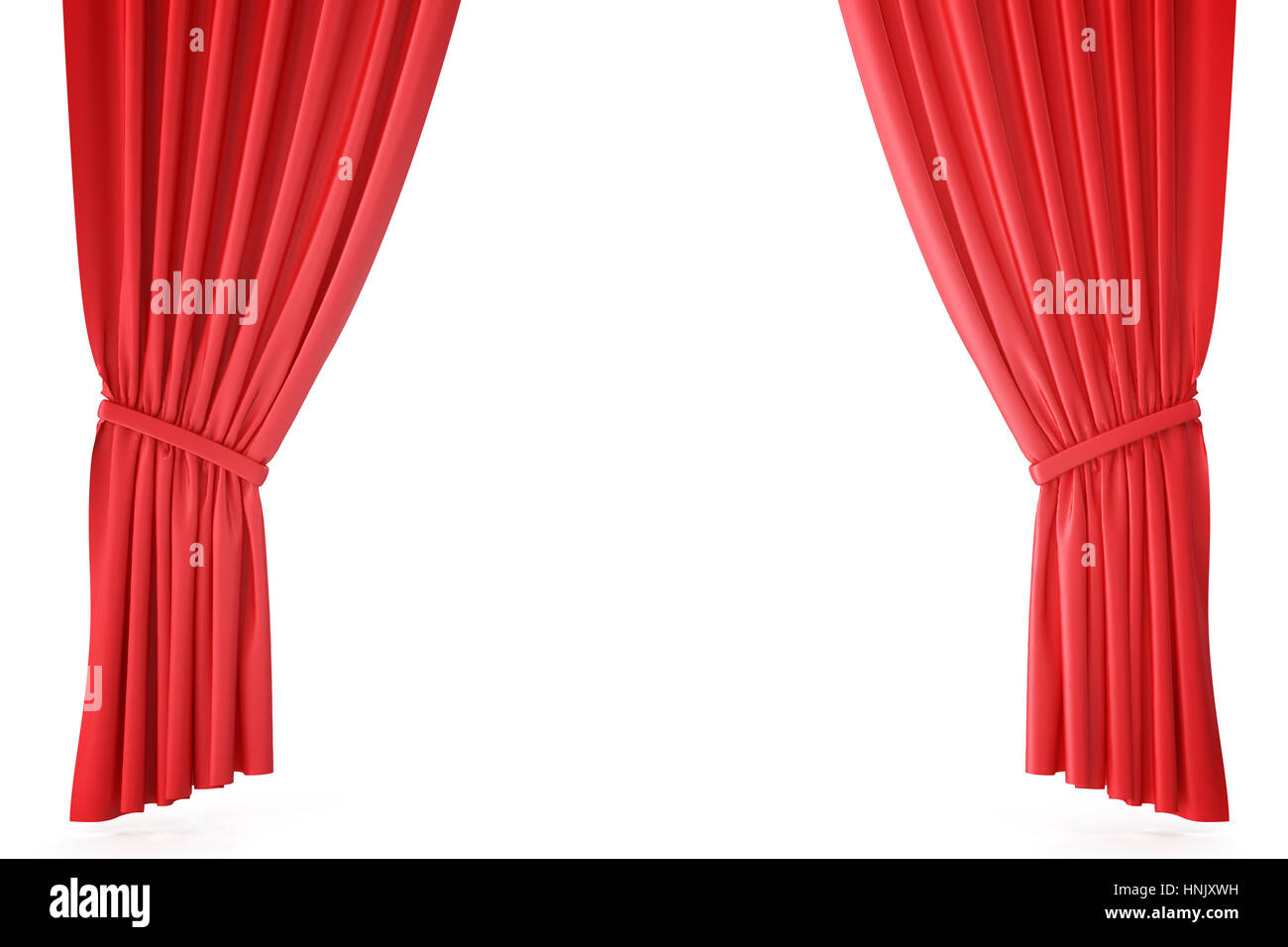 red velvet stage curtains scarlet theatre drapery silk classical